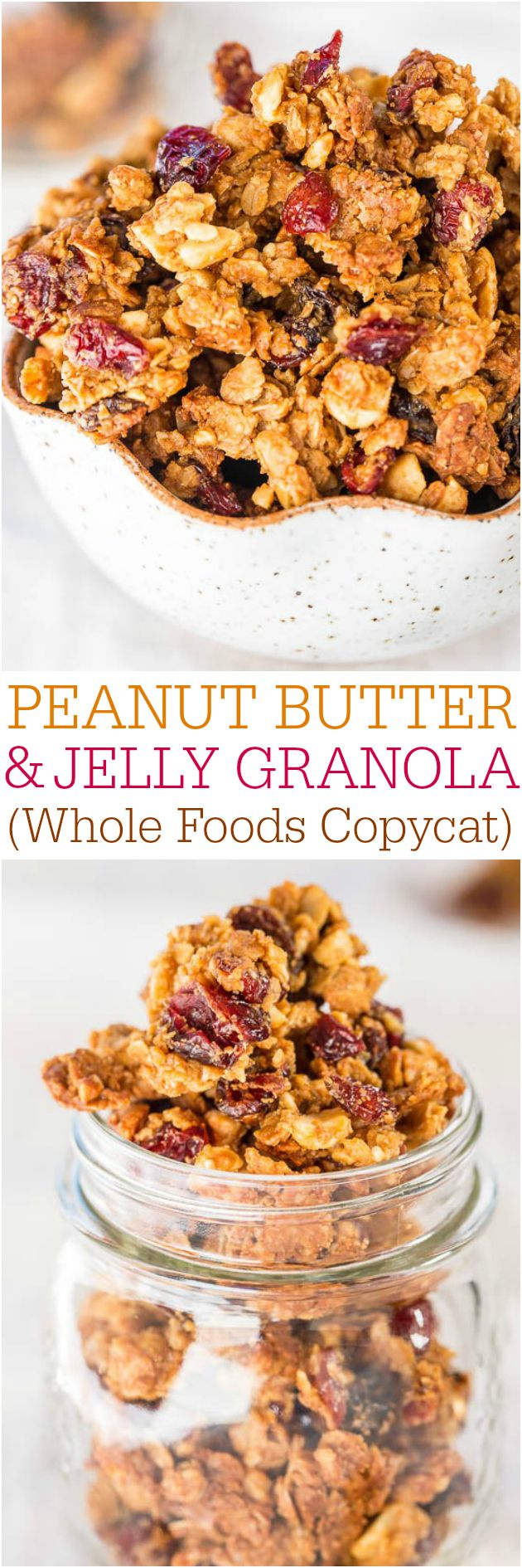 Peanut Butter and Jelly Granola (Whole Foods Copycat)