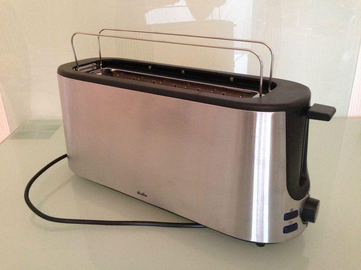 Aldi Toaster Studio 1000w Edelstahltoaster American Toast Langschlitztoaster NEU