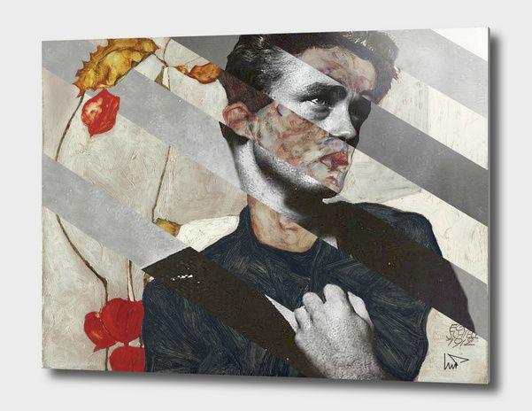 Discover «Egon Schiele's Self Portrait & James Dean», Exclusive Edition Aluminum Print by Luigi Tarini - From $75 - Curioos