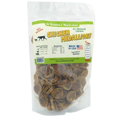 Simply Natural Chicken Medallions No Grain Fillers Resealable Bags Dog Treat 10 oz