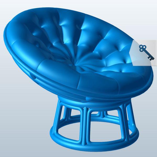 Papasan Chair 3D Model Made with 123D MeshMixer