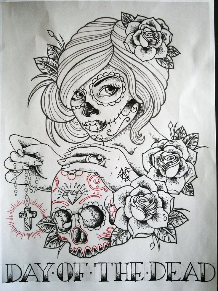Day Of The Dead Girl by Frosttattoo on deviantART