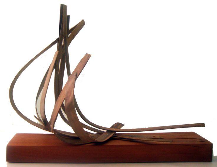 """""""la tempestad"""", escultura de madera"""
