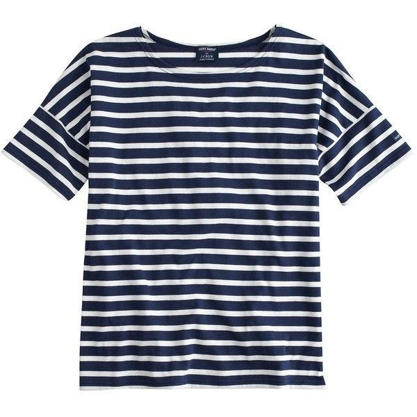 """""""Saint James For J.Crew Short-Sleeve Slouchy Tee"""" found on Polyvore"""