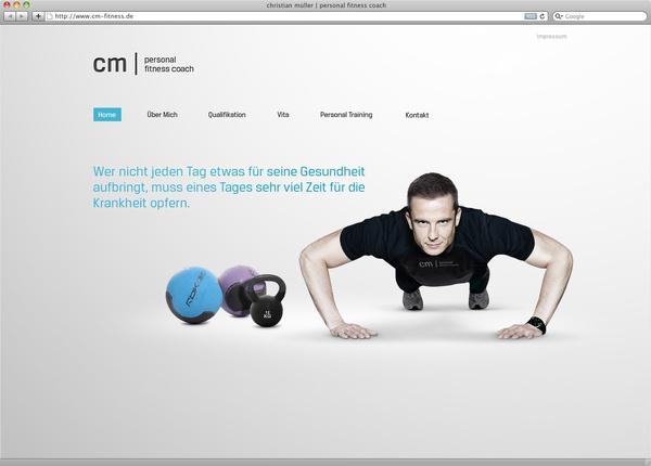christian müller | personal fitness coach by dieTaikonauten , via Behance