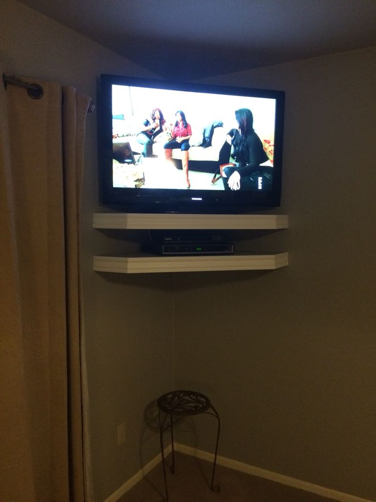 Floating Corner Tv Shelves Home Decor In 2019 Wall