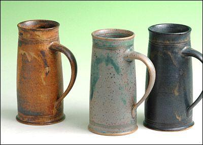 pottery mugs -