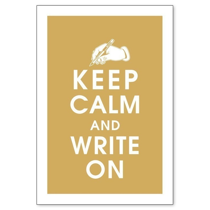 Keep Calm and Write On, Fountain Pen 13x19 Poster (GOLDEN CHARIOT featured) Buy 3 and get 1 FREE. $14.95, via Etsy.