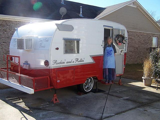 1963 Vintage Shasta Teardrop Trailer..I like the addition bulit on the back end, I plan on doing this to mine