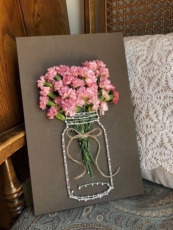 Diese entzückende Schnurkunst ist für jede mit Blumen versierte Person perfekt. #WoodWorking