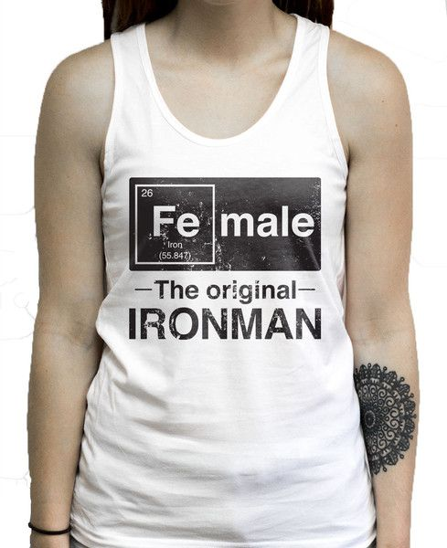 Ironman has always been a man, but did you know he was a woman? Before he was the rock hard superhero, he was the element Iron, mixed with the male gene to get the female. ruck the gym with this fun s