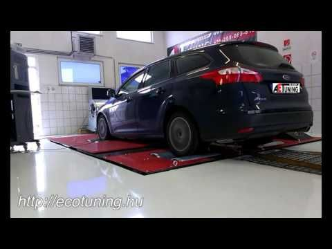 Ford Focus 2.0TDCI 115LE AET CHIPtuning Referencia Videó Dynoproject tel...