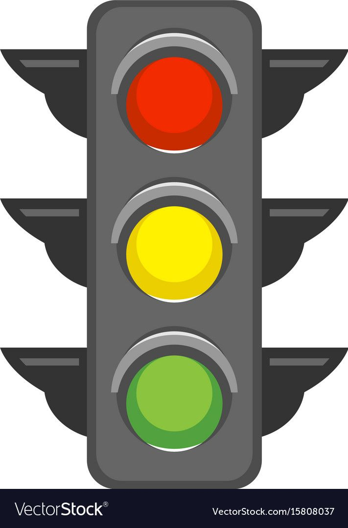 Traffic Light Vector Image On Vectorstock Traffic Light Vector Images Art Transportation