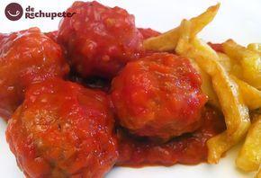 Albóndigas caseras en salsa de tomate. Receta paso a paso - Recetasderechupete.com