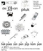 Werkblad beginklank P van Pluk