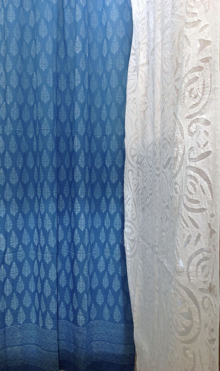 Gorgeous appliqué and block printed curtains.