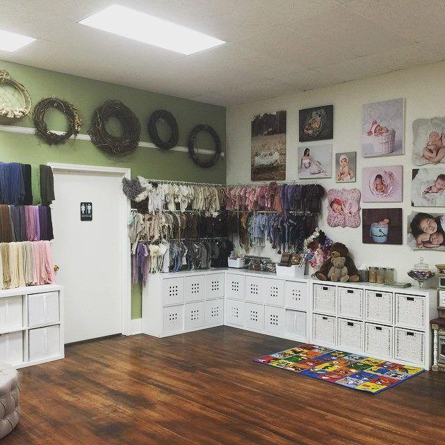 Corner area of ana brandts photography studio in tustin california area shows newborn prop