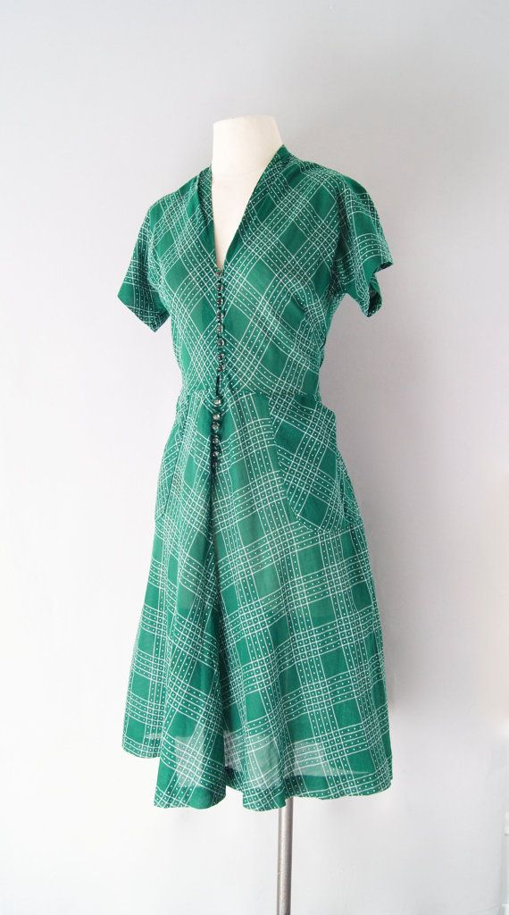 1940s cotton day dress http://www.etsy.com/listing/97169209/40s-dress-1940s-cotton-day-dress?ref=v1_other_2