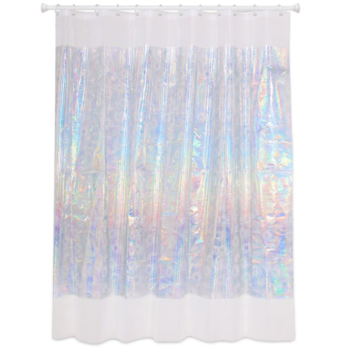 Laser Spiral Iridescent Shower Curtain Bed Bath Beyond