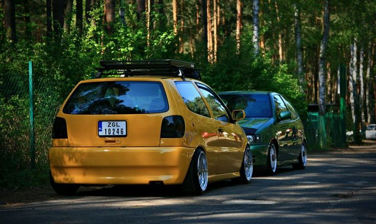 Volkswagen Polo 6n  Volkswagen Polo 6n1 Lowered slammed scrape vw chrome rims