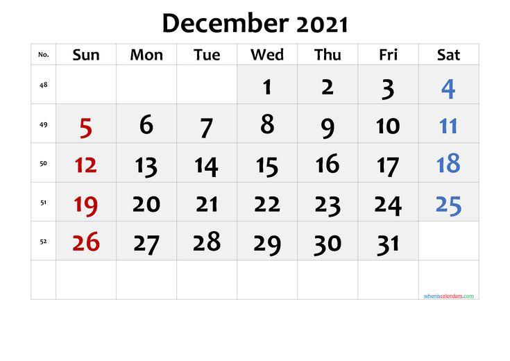 2021 December Free Printable Calendar Free Premium in ...