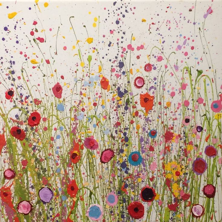 Where The Wild Roses Grow is one of my originals using oil paint on a canvas surface I create a a fairy tale place, full of secrets buried in my heart. - UK Flower Artist Yvonne Coomber