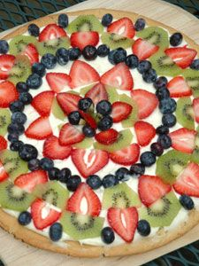 how to make fruit pizza easy