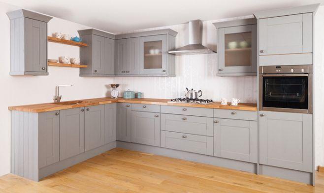 meuble cuisine gris clair design de