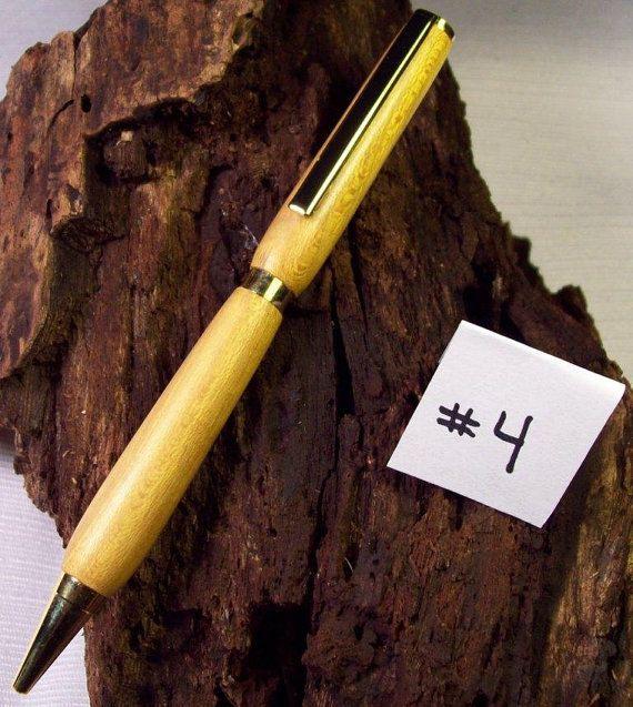 Wood Pens Hand Osage Orange 24kt gold finish twist pens cross pens wood cross pens hand turned pens slimline ink pens