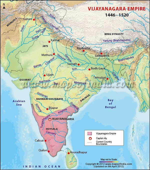 1343: the southern kingdom builds its capital at Vijayanagar (Hampi)  1345: Nobles revolt against Muhammad ibn Tughluq, declare their independence from the Delhi sultanate, and found the Bahmani dynasty in the Deccan  1346: the Vijayanagar kingdom conquers the Hoysalas  1346: the Hoysala dynasty disintegrates  1347: Turkish governor Ala-ud-Din Bahman Shah rebels against the Sultan of Delhi and founds the Bahmani Sultanate in Bijapur