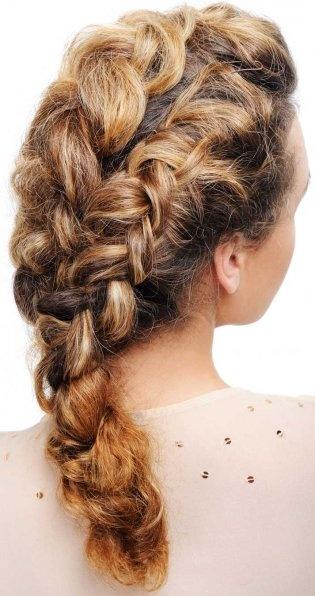 Curly hair in a braid <3