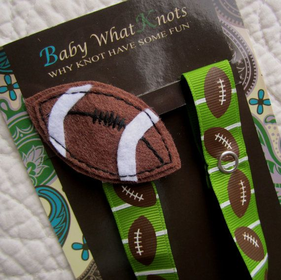 Baby Boy Pacifier Clip, Football Pacifier Clip, Soccer Sports Pacifier Holder, pcsports02