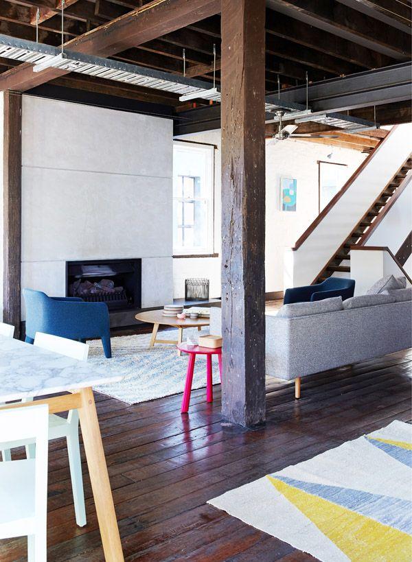 The Design Files Open House SYDNEY Location Artwork On Far Wall By Melinda Marshland