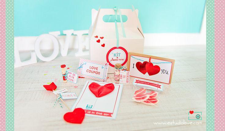 Kit enamorados, kit San Valentin, Love Coupon,   regalo original boda, valentinesdays, Regalo San Valentín / Gift lovers, Box valentine, www.estudiolove.com