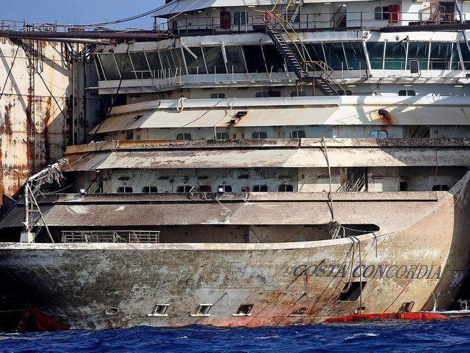 Shipwrecked Costa Concordia Making Final Voyage Cruise Ships - Sunken cruise ships
