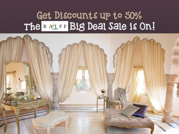 Get Discounts up to 50% | The Raiff Big Deal Sale is On! Address- House X, Mondeal Business Park,Near Gurudwara,S.G Road, Ahmedabad. Contact: 99256 21612  #Decor #HomeDecor #Interior #Lifestyle #Accesories #Sale #Curtains #Sofafabrics #Mattresses #WallpaperArt #CushionPillows #Artifacts #RaiffByArodrape #CityShorAhmedabad