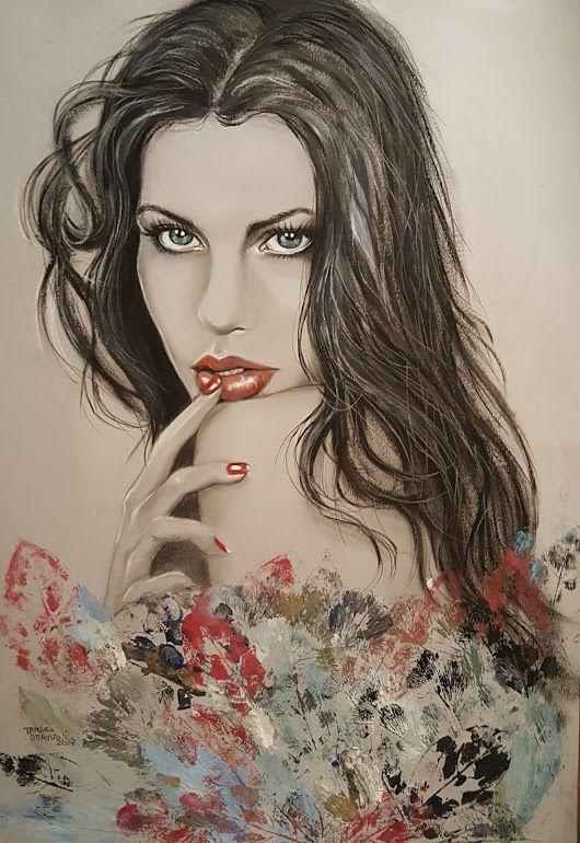 "Terminato cosa ne pensate ? Titolo ""Madre natura"" Carta Fabriano grigia 48x33. - Tamara Ottaviani Art by Tamara - Google+ #drawing #pensil #picture #drybrush #dipinto #Portrait #beautiful #beauty"