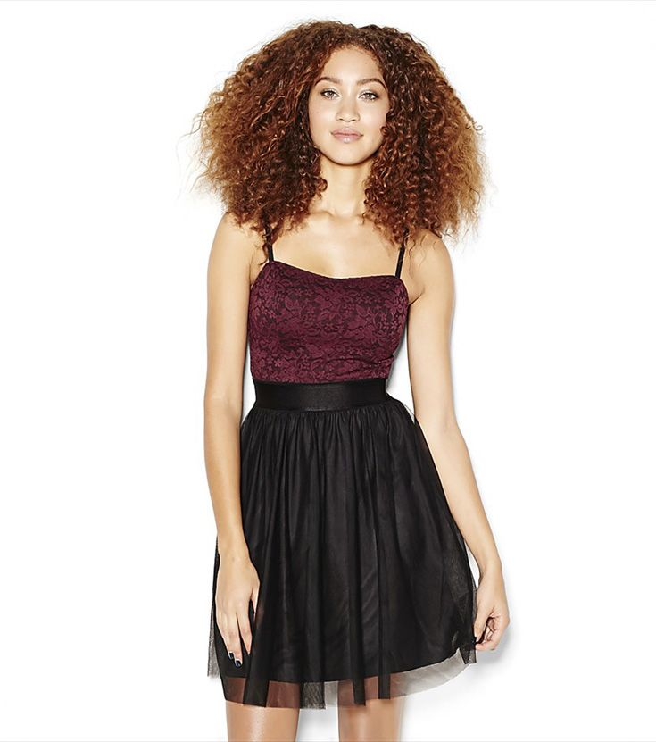 Lace Bustier Tulle Dress.