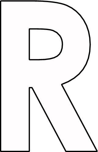 kleurplaat letter r printable alphabet letters