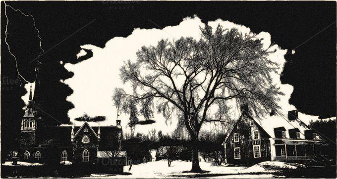 Vintage rural scene by 89colors on Creative Market