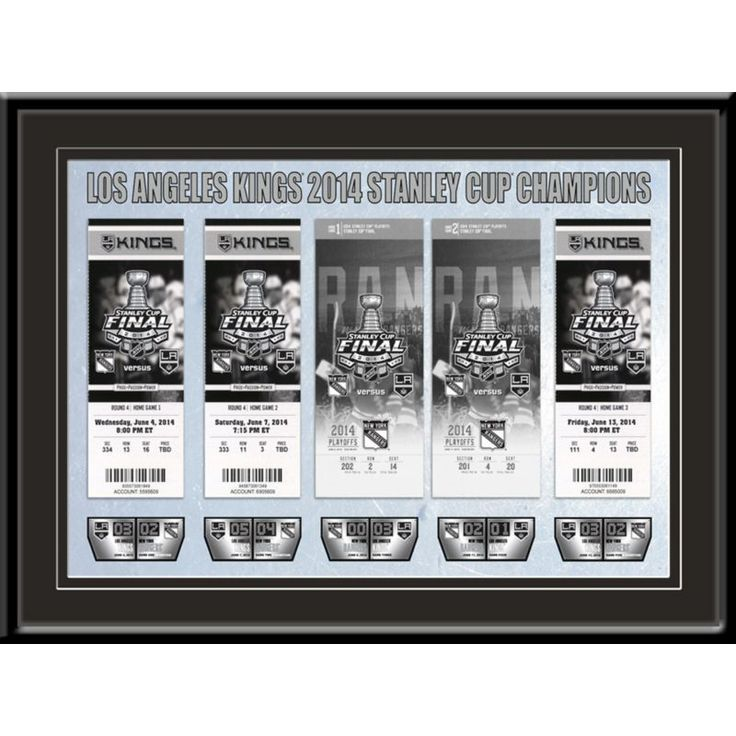 That's My Ticket Los Angeles Kings 2014 Stanley Cup Final Framed Ticket Canvas, Team