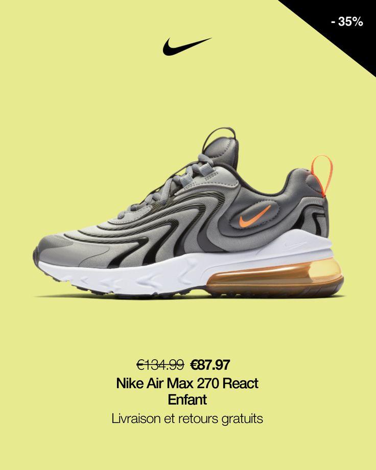 Chaussure Nike Air Max 270 React ENG pour Enfant plus âgé. Nike FR ...