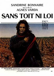 """Vagabond (French: Sans toit ni loi, """"without roof no law"""" = """"outlawed"""") is a 1985 drama film directed by Agnès Varda, featuring Sandrine Bonnaire. It describes the story of a young woman, a vagabond, who wanders through French wine country one winter. The film was the 36th highest grossing film of the year with a total of 1,080,143 admissions in France."""