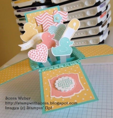 Stampin' Up! Something For Baby, Baby Card In A Box