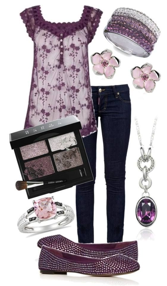 I like this purple and the shirt is very pretty.