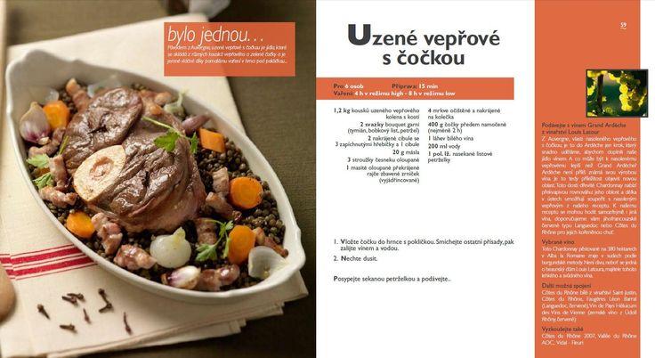 Uzené vepřové s čočkou recept, Tefal Mijotcook SD5000