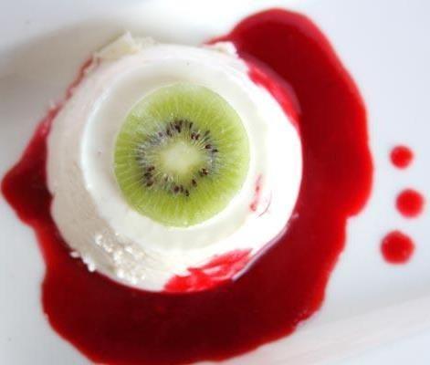 Buttermilk Panna Cotta Eyeballs - Smooth and creamy buttermilk panna ...