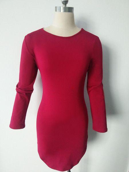 Plus Size Women Clothing 2016 Autumn Long Sleeve Mini Bodycon Tunic Slim Party Sexy Clubwear Side Split Tshirt Bandage Dresses