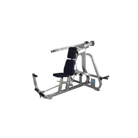 Olymp Fitness Schulterpresse - Professionelles Kraftgerät zum trainieren der seitlichen und vorderen Schultermuskeln, sowie des Nackens und des Trizeps. Variable Griffpositonen und ein höhenverstellbarer Sitz gewährleisten anatomisch korrekte Bewegungsabläufe, was zum optimalen Reiz der Zielmuskulatur führt. Darüber hinaus wird auch hier mit einer Starthilfe das Verletzungsrisiko minimiert und gleichzeitig der Bewegungsradius erhöht. Frage nach einer unverbindlichen Offerte…