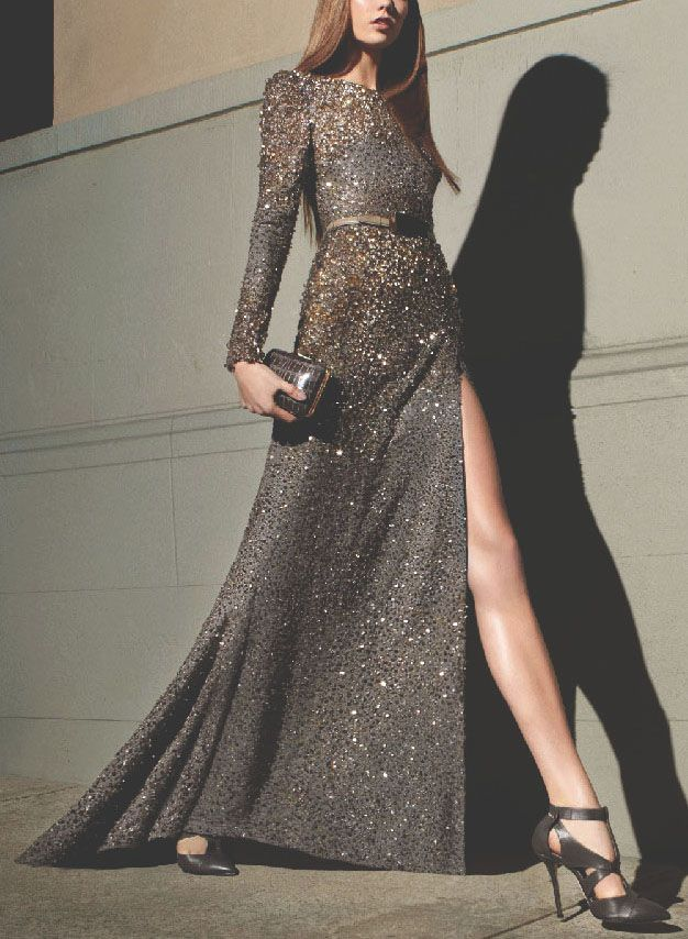Elie Saab Fall 2012 I want this for bridesmaids dresses. Except for the spilt.